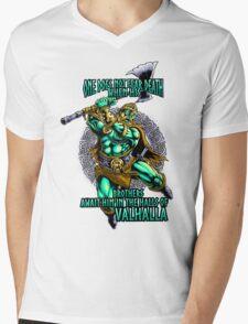 Viking Nordic Norse Odin Mens V-Neck T-Shirt