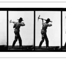 Eadweard Muybridge - Pick Axe Photographic Motion Study Sticker