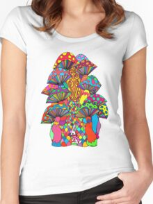Follow Me To Wonderland Women's Fitted Scoop T-Shirt