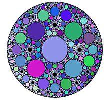 Circle fractals Photographic Print