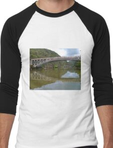 Kings Bridge and Cataract Gorge, Launceston Tas, Australia Men's Baseball ¾ T-Shirt