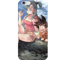 Kid Goku and Teen Bulma iPhone Case/Skin
