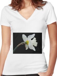 Silicon Valley Daffodils Women's Fitted V-Neck T-Shirt