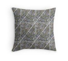 Mossy Rock Crosshatch Throw Pillow