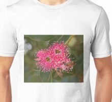 Ligurian bees feeding on the pink flowering gum Unisex T-Shirt