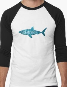 Ocean Vibes | Shark Men's Baseball ¾ T-Shirt