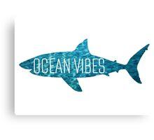 Ocean Vibes | Shark Canvas Print