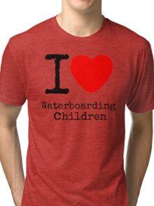 I <3 Waterboarding Children Tri-blend T-Shirt