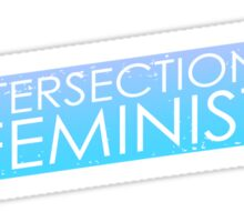 Intersectional Feminist - Blue Sticker