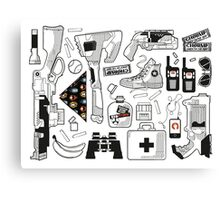 Zedtown Survival Kit Canvas Print