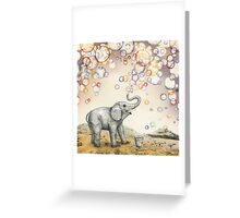 Elephant bubble dream Greeting Card