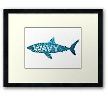 Wavy | Shark Framed Print