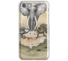 Elephant turtle condor tea time iPhone Case/Skin
