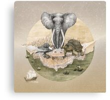Elephant turtle condor tea time Canvas Print