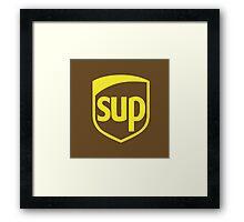 UPS SUP PARODY Framed Print