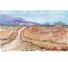 A road in Namibia Photographic Print