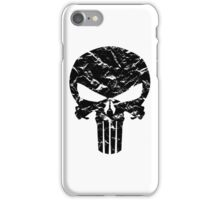 Punisher Logo (Black) iPhone Case/Skin