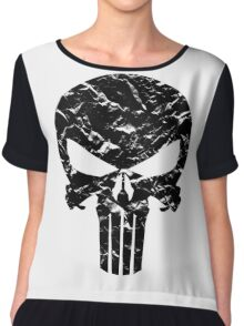 Punisher Logo (Black) Chiffon Top