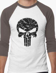 Punisher Logo (Black) Men's Baseball ¾ T-Shirt