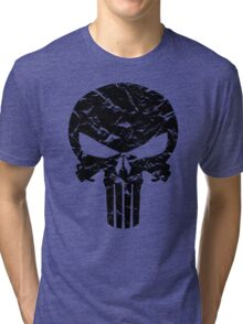 Punisher Logo (Black) Tri-blend T-Shirt
