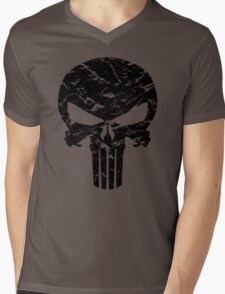 Punisher Logo (Black) Mens V-Neck T-Shirt