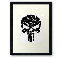 Punisher Logo (Black) Framed Print