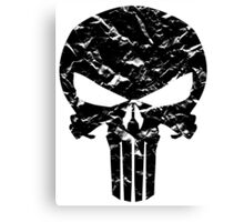 Punisher Logo (Black) Canvas Print