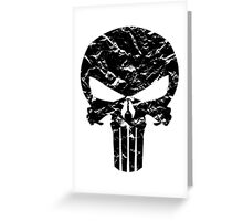 Punisher Logo (Black) Greeting Card