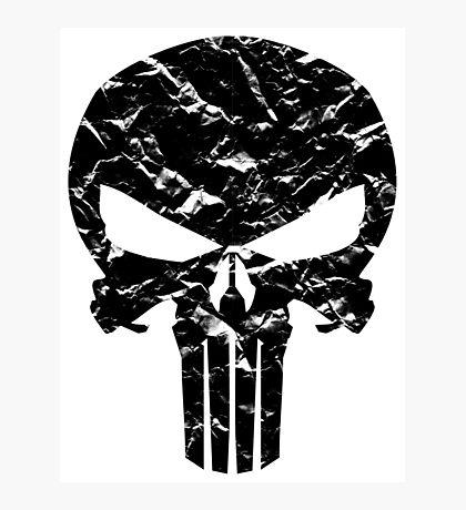 Punisher Logo (Black) Photographic Print