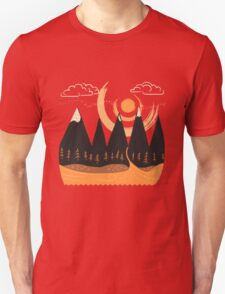 Sunny Mountain Pass Unisex T-Shirt