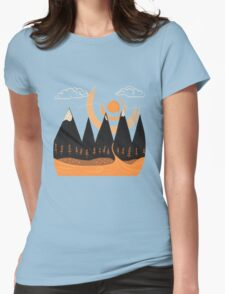 Sunny Mountain Pass Womens Fitted T-Shirt