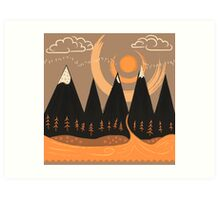 Sunny Mountain Pass Art Print