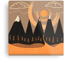 Sunny Mountain Pass Metal Print