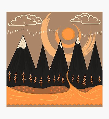Sunny Mountain Pass Photographic Print