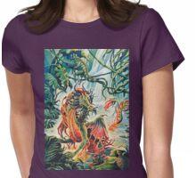 Rainforest Dragon Womens Fitted T-Shirt