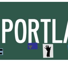 Portland Sign Sticker