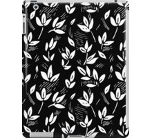 monochrome leaf in engraving style iPad Case/Skin