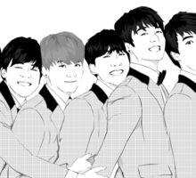 BTS Group Photo - Monochrome Sticker