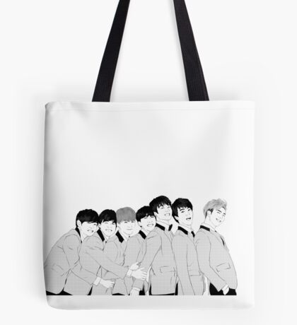 BTS Group Photo - Monochrome Tote Bag