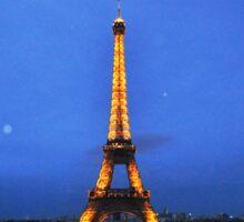 Eiffel night Sticker