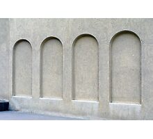 Arches on a wall. Photographic Print