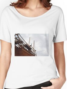 Detail of wooden ship. Women's Relaxed Fit T-Shirt