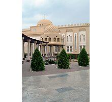 Islamic beautiful decorated beige building. Photographic Print