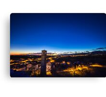 sunset at the village Canvas Print