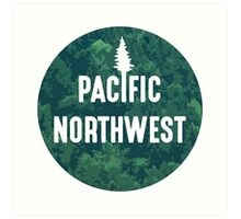 Pacific Northwest | Forest Circle Art Print