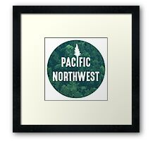 Pacific Northwest | Forest Circle Framed Print