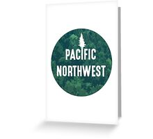 Pacific Northwest | Forest Circle Greeting Card