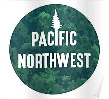 Pacific Northwest   Forest Circle Poster