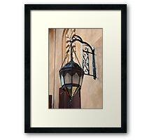 Vintage Gothic outdoor lamppost. Framed Print