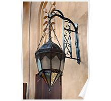 Vintage Gothic outdoor lamppost. Poster